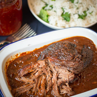 Caramelized Pulled Beef Brisket in a Rich Spicy Sauce.