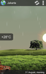 Animated Weather Widget, Clock- screenshot thumbnail