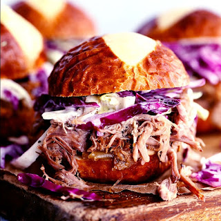 Slow Cooker Sweet Carolina Pulled Pork Sliders