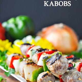 5-Ingredient Grilled Italian Sausage Kabobs Recipe