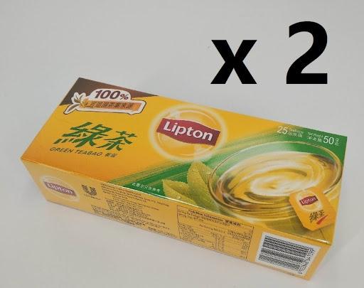 立頓 - 綠茶茶包 25片裝 x 2盒