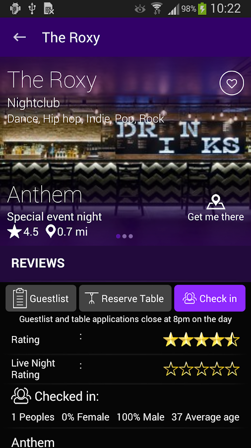 Night Owl Nightlife Guide- screenshot