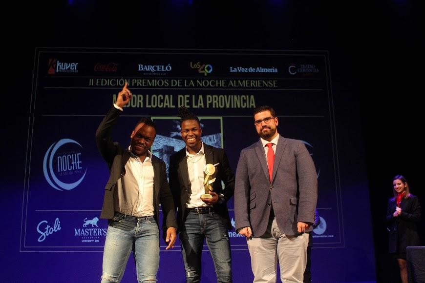 Galardonados en la gala de los Premios de la Noche Almeriense.
