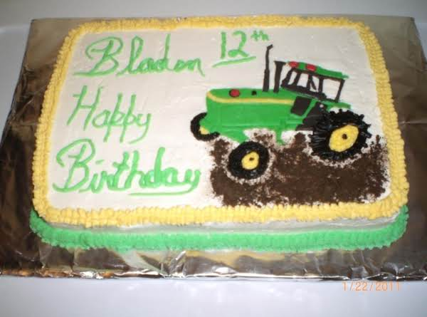 Amazing John Deere Tractor Cake Just A Pinch Recipes Funny Birthday Cards Online Elaedamsfinfo