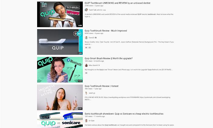 Quip Youtube content.
