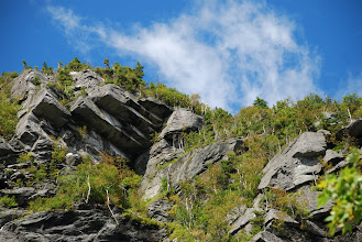 Photo: Cliffs at Smugglers' Notch State Park by Linda Carlsen-Sperry.