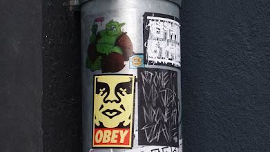 Photo: Sticker; Obey et al.