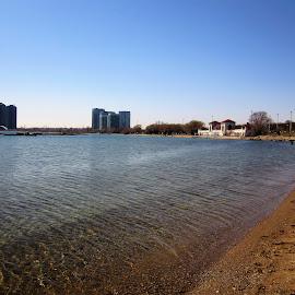 Sunnyside Beach, Toronto, Canada by Carl VanderWouden - Landscapes Beaches
