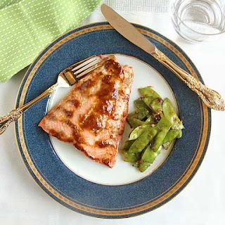 Miso Glazed Salmon and Snow Peas