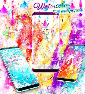 Watercolor live wallpapers - náhled