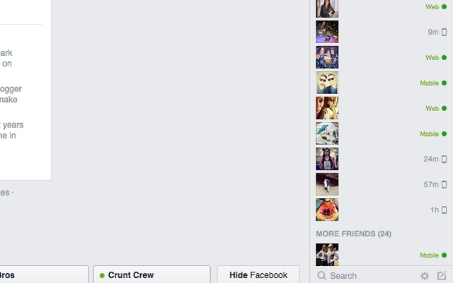 Distraction-free Facebook Chat UI