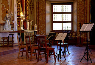 Photo: Preparations for the evening concert