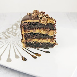 Peanut Butter Cup Ganche Cake