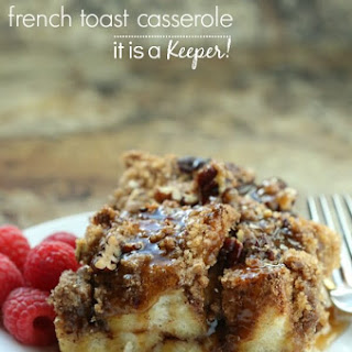 Cinnamon Streusel French Toast Casserole