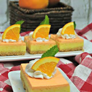 Orange Julius Cheesecake Bars.