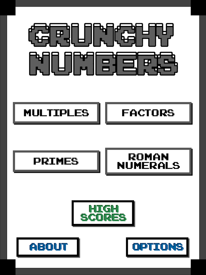 Crunchy Numbers Math Arcade (Fast Math Training)- screenshot
