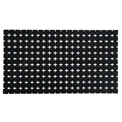 Коврик для ванной комнаты Ridder Nevis черный 68х39 см
