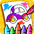 Cars Coloring Book for Kids - Doodle, Paint & Draw icon