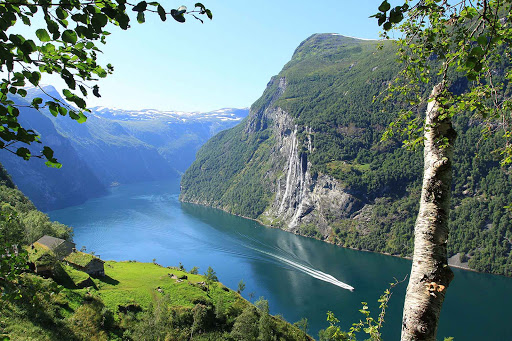 Norway-Geirangerfjord1 - Geirangerfjord is a UNESCO-protected area in Norway known for its verdant hillsides and waterfalls.