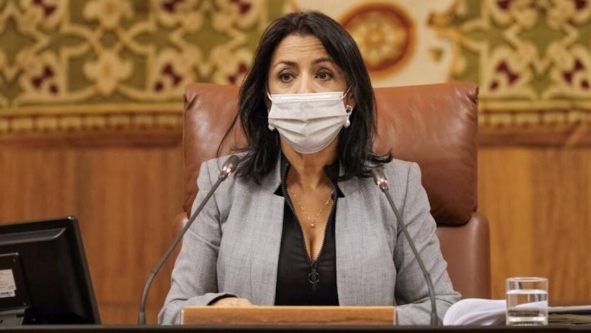 Marta Bosquet, presidenta del Parlamento andaluz.
