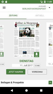 Berliner Morgenpost - screenshot