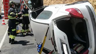 Imagen del accidente remitida por el Ayuntamiento de Almería.