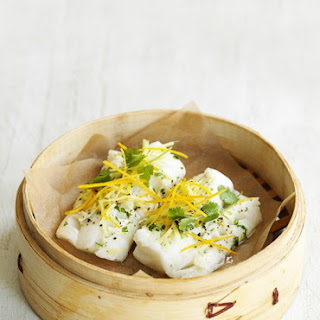 Steamed Fish With Ginger and Orange.