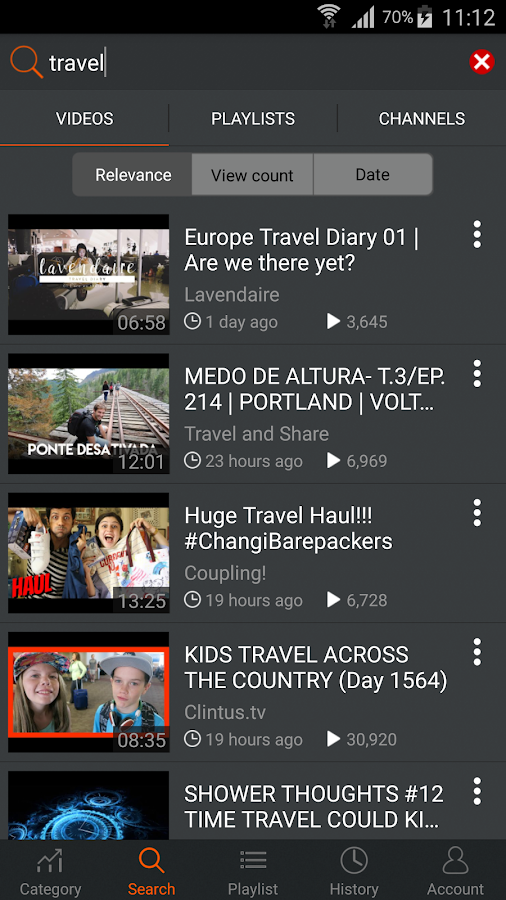 Screenshots of Play Tube for Android
