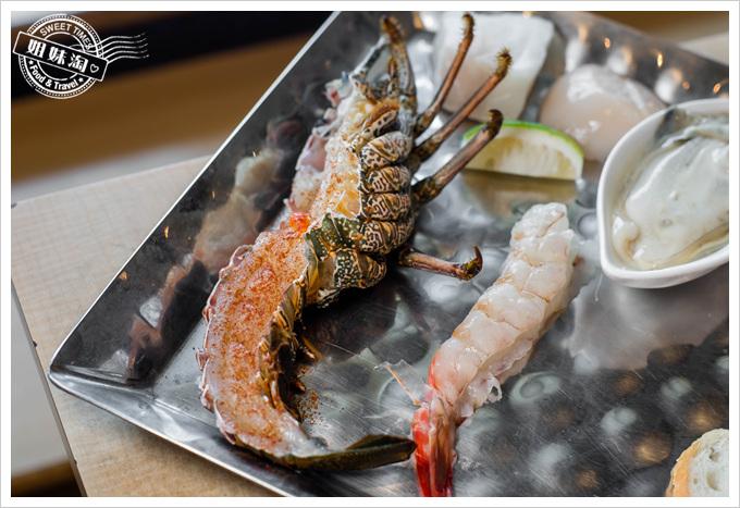 漢來45F鐵板燒龍蝦與明蝦