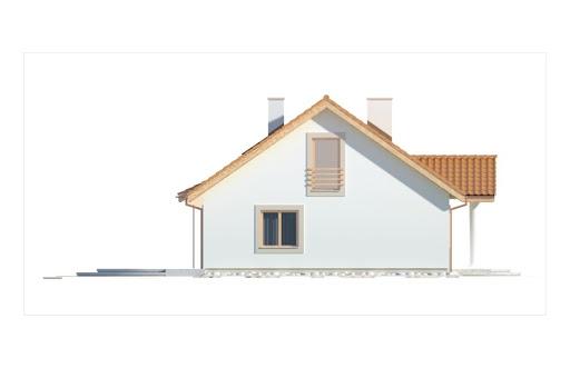 Gienia II Klasyk wersja A bez garażu - Elewacja lewa