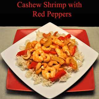 Cashew Shrimp with Red Peppers.