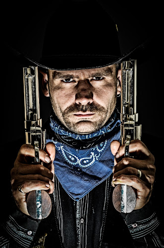 by Florin Marksteiner - People Portraits of Men ( cowboy, guns, silver, scarf,  )