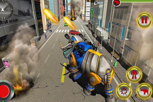 Transforming Robot Elephant Vs Ultimate Lion Robot Varies with device screenshots 3