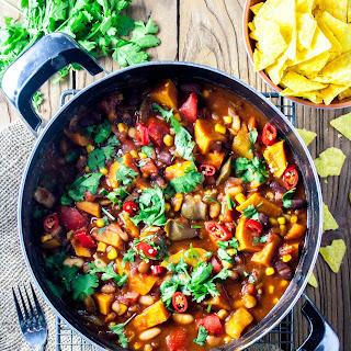 Meat Lover's Vegetarian Bean Chilli.