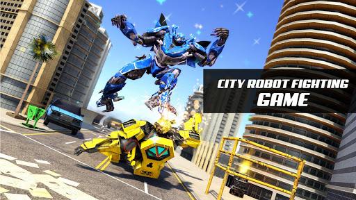 Flying Police Limo Car Robot: flying car games screenshot 11