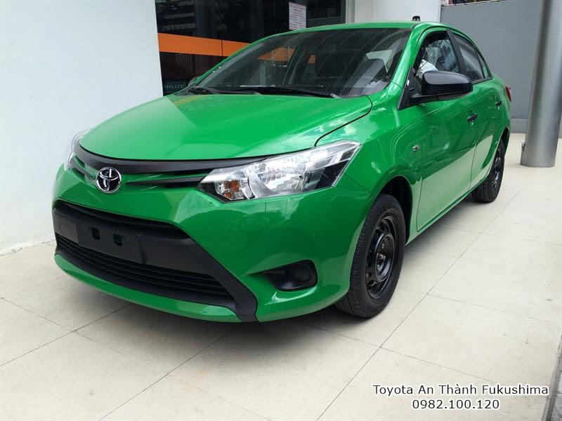 Xe Toyota Vios 2016 1.5 E Số Sàn màu xanh Mai Linh