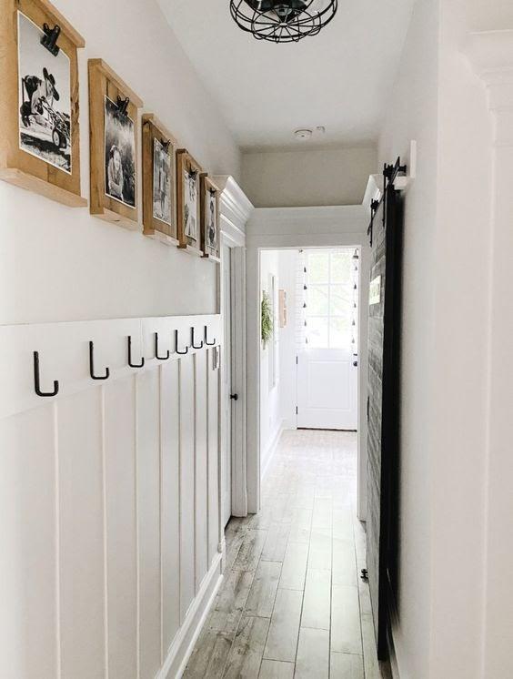Hang Some Functional Hooks Along Hallway Wall