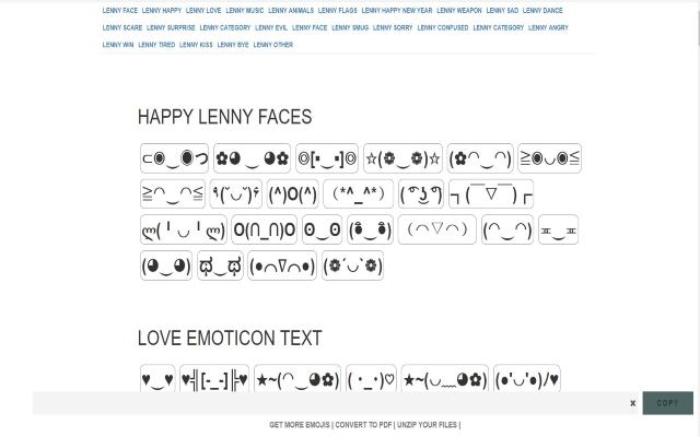 Lenny Face Copy for Google Chrome™