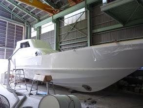 Photo: 只今、建造中の船を拝見させて頂きます。