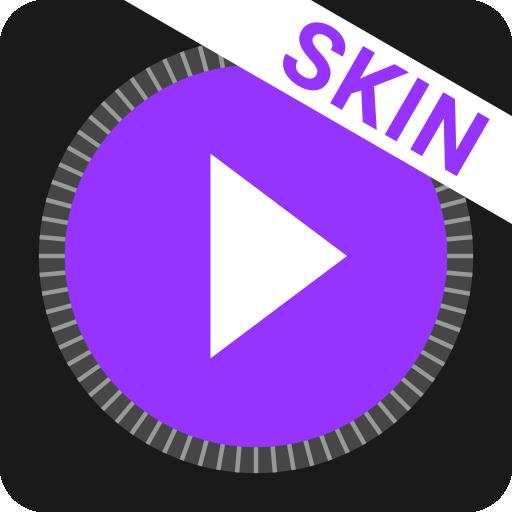 MusiX Material Dark Purple Skin for music player