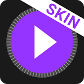 MusiX Material Dark Purple Skin for music player