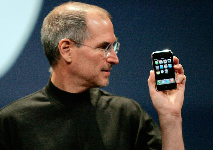 Steve Jobs with the iPhone at its release. Image: VIDEO GRAB
