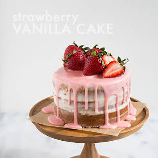 Strawberry Vanilla Cake.