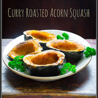 Curry Roasted Acorn Squash.