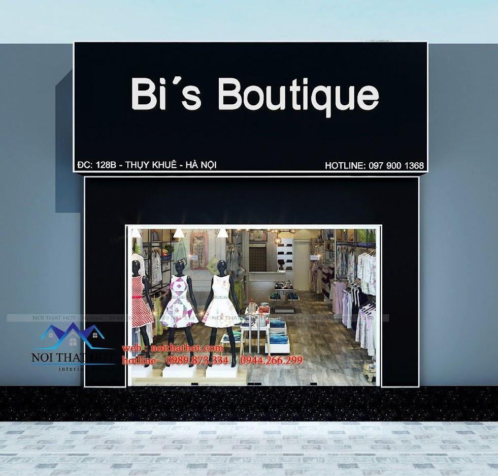 thiết kế shop thời trang nữ Bi's Boutique 1