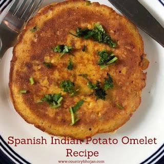 Spanish Indian Potato Omelet.