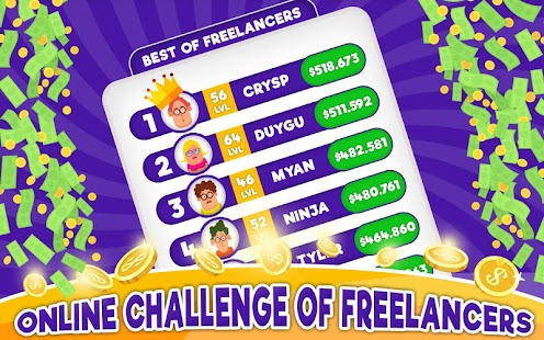 Freelancer Simulator Inc : Game Dev Money Clicker Screenshot