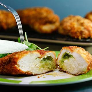 Garlicky Chicken Kiev with Herb Salad