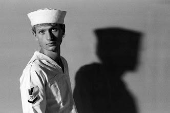 Photo: Gilles Blanchard en marin américain, 1977.