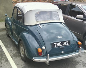 Photo: A late 50's / early 60's Morris Minor 1000 soft-top, still being used for shopping runs.